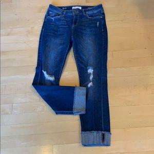 DL 1961 slim boyfriend distressed jeans
